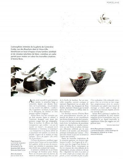 céramique et du verre2012 2